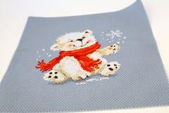 New Year`s polar bear royalty free stock photos
