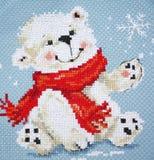 New Year`s polar bear royalty free stock photography