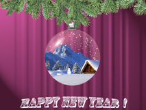 New Year's postcard Stock Photo