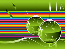 New year's postcard. Vector new year's festive postcard with ball Royalty Free Stock Photo