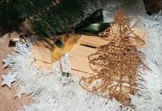 New Year`s prezent Stock Images