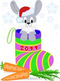 New Year's rabbit Royalty Free Stock Photography