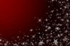 New Year's red background. Royalty Free Stock Photography