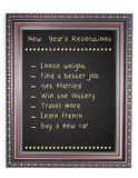 New Year's Resolution Chalk Board Frame Royalty Free Stock Images