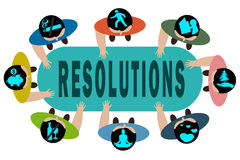 New Years Resolution. New Year's Resolution concept illustration isolated on white background Stock Images