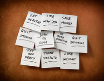 New Year's resolutions Royalty Free Stock Photos