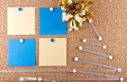 New year's resolutions corkboard Stock Photos