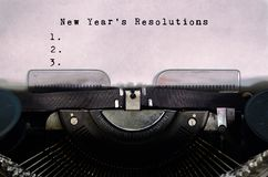 New Year`s Resolutions list royalty free stock photography