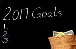 New Year`s resolutions Stock Photography