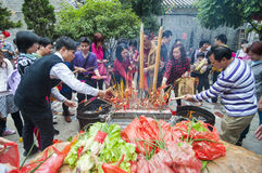 A New Year's ritual activities Stock Images