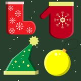 New Year`s set vector Royalty Free Stock Images