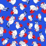 New Year's sheeps seamless pattern Stock Photo