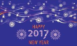 New year`s sky. Vector image. Royalty Free Stock Photo