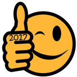 New Year`s smiley 2017 Stock Photo
