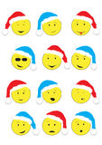 New Year's smileys Stock Photography