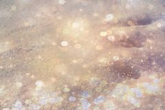 Snow defocused background bokeh effect for holiday. New Year`s snow with bokeh effect near background royalty free stock photography
