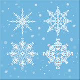New Year's snowflakes. Background Royalty Free Stock Image