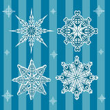 New Year's snowflakes blue Royalty Free Stock Photos