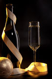 New Year's sparkling champagne Royalty Free Stock Photo