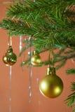 New Year's spheres Stock Image