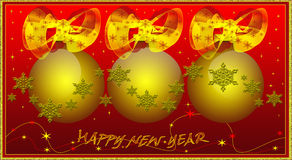 New Year's spheres Royalty Free Stock Photo