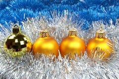 New Year's spheres Stock Photo
