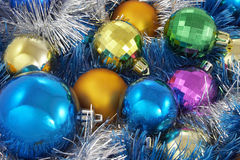 New Year's spheres Royalty Free Stock Images