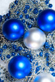 New Year's spheres Stock Photography