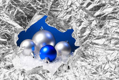 New Year's spheres Royalty Free Stock Image