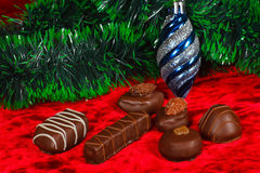 New Year's still life of chocolate candy Royalty Free Stock Photography