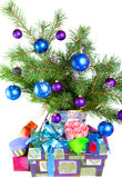 New Year s still-life-fur-tree branches Stock Photography