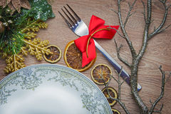 New Year's table decoration Royalty Free Stock Image