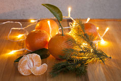 New Year`s Tangerine. Happy Holidays Stock Photography