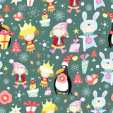 New Year's texture with children Stock Photography
