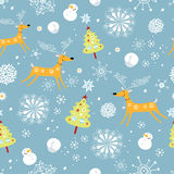 New Year's texture with deer Stock Photo