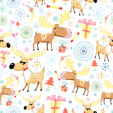 New Year's texture with moose Stock Image