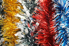New year's tinsel. Background Royalty Free Stock Photo