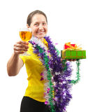 New Year's toast Stock Images