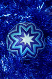 New Year's toy , dark blue ball, Christmas toy Stock Photo