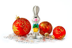 New Year's toys. Christmas toys isolated on white background Royalty Free Stock Image