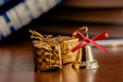 New Year`s toys royalty free stock photography