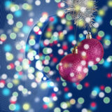 New Year's toys on the drawn background Royalty Free Stock Images