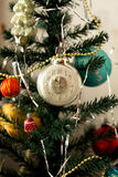 New Year's toys on a fir-tree. New Year's toys on a green fir-tree Stock Photography