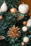 New Year's toys on a fir-tree. New Year's toys on a green fir-tree Royalty Free Stock Photography