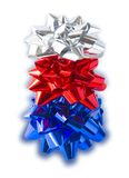 New Year's Tree. Made Of Bows (with clipping path for easy background removing Royalty Free Stock Photography