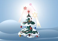 New year's tree. Illustration Royalty Free Stock Photos