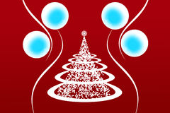 New Year's tree. Decorate with christmas balls Stock Images