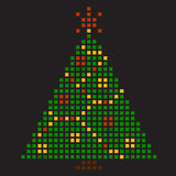 New Year's tree. Pixel art Royalty Free Stock Images