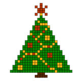 New Year's tree. Pixel art Stock Photography