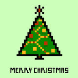 New Year's tree. Pixel art Royalty Free Stock Photography